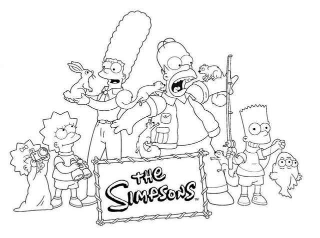 the simpson episode coloring page
