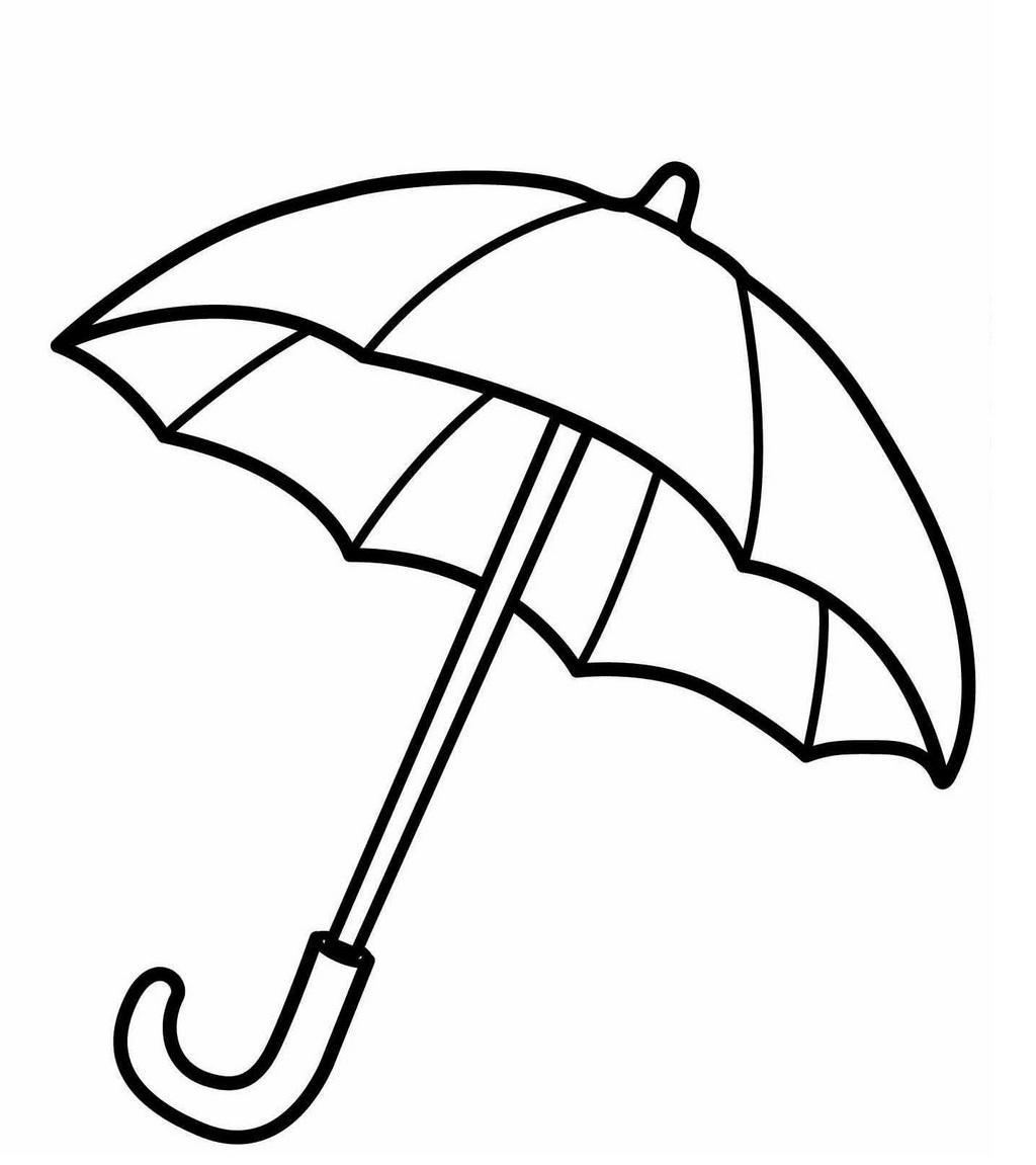 Umbrella Coloring Sheet For Kids