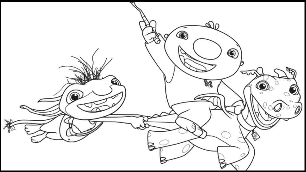 wallykazam and friends coloring sheet
