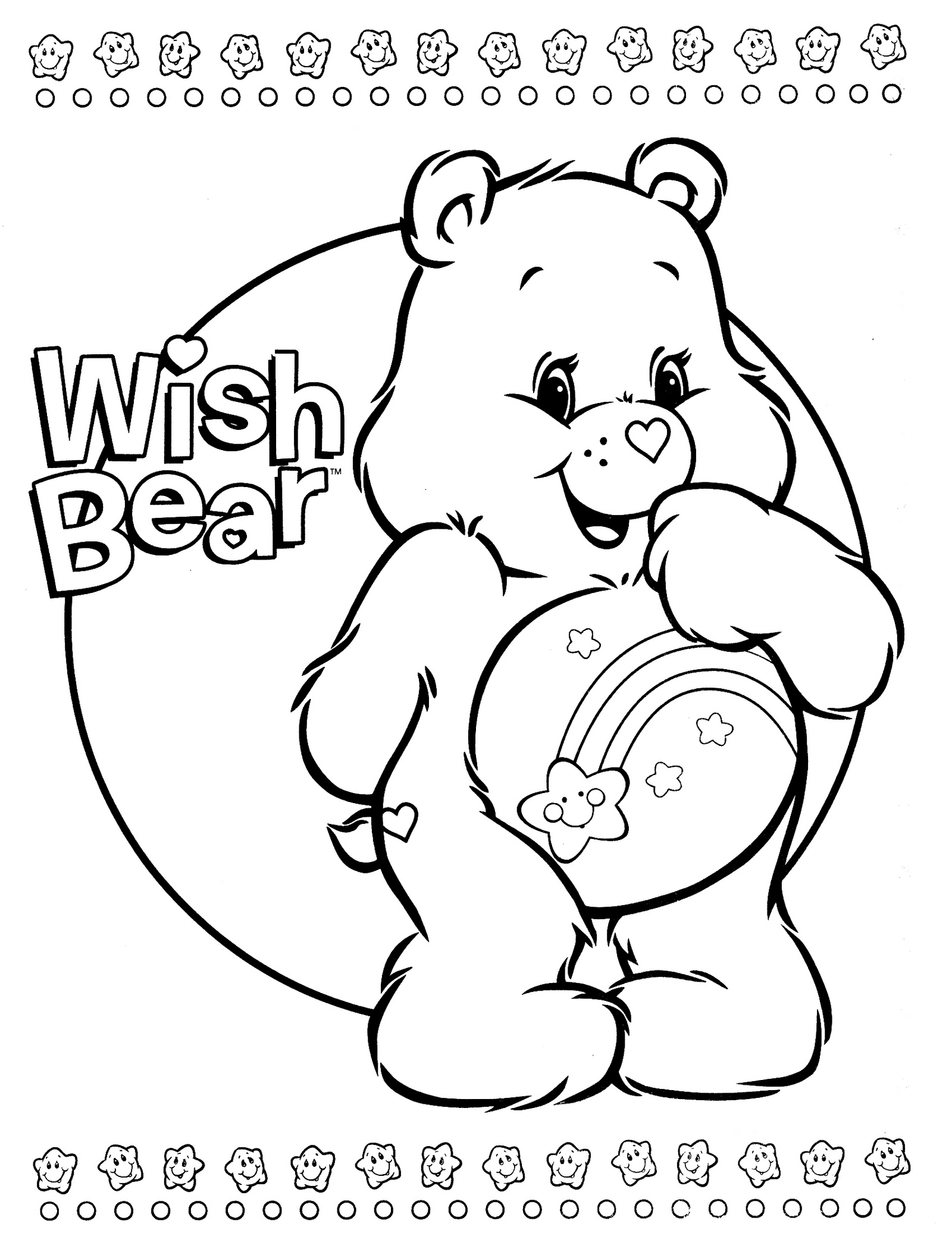 Wish Bear From Care Bears Coloring Book