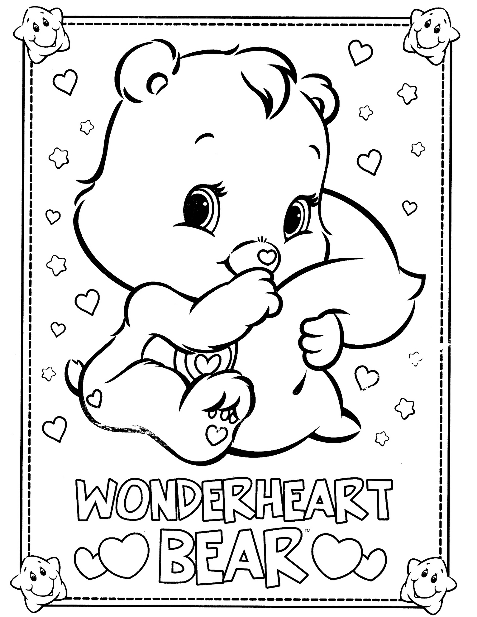 Wonderheart Bear From Care Bears Coloring Pages