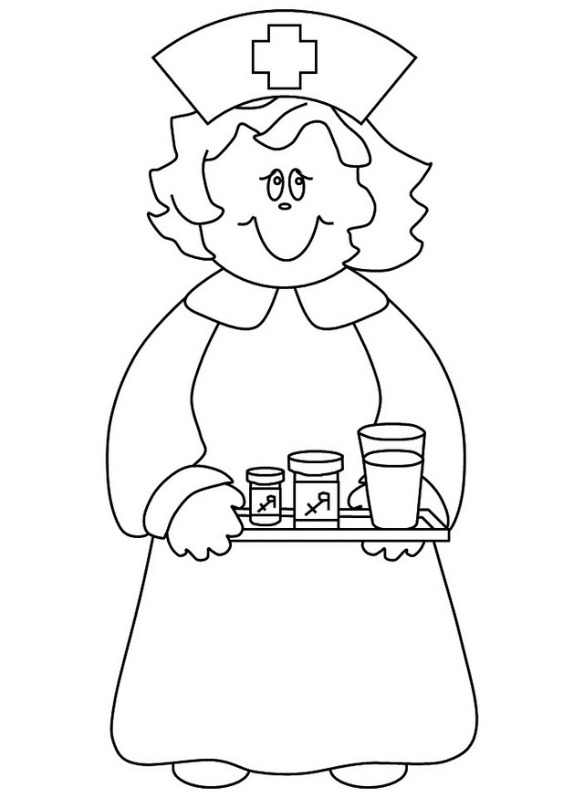 Nurse Coloring Page Collection