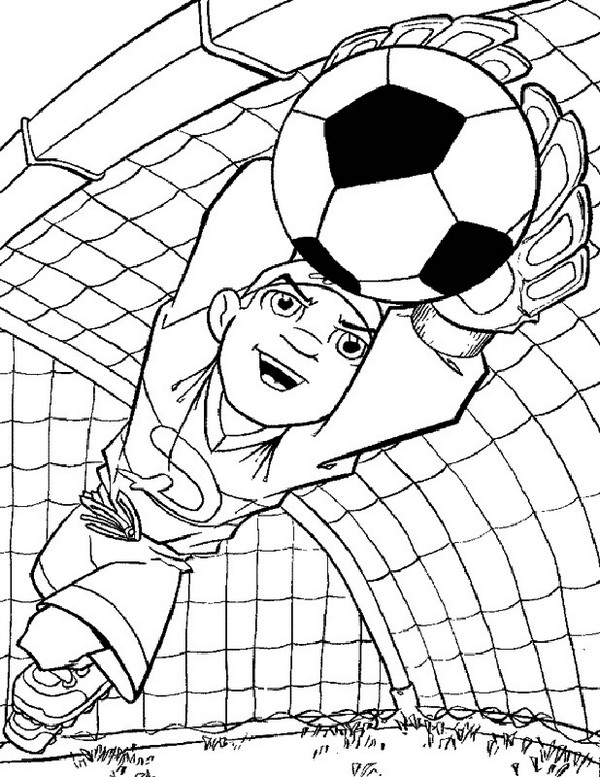 Printable Soccer Cartoon Coloring Pages