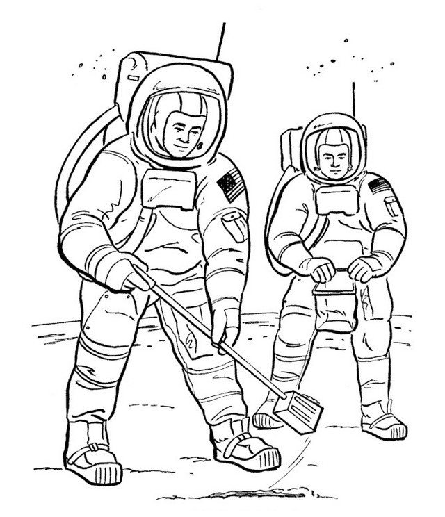 Realistic Astronaut Coloring Sheets