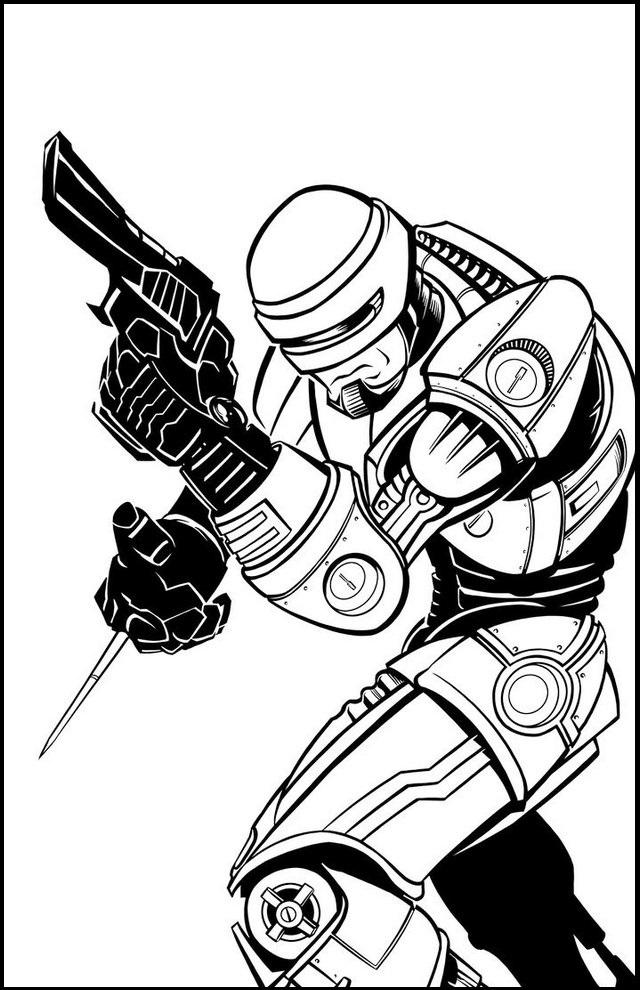Robocop Coloring Page Printable