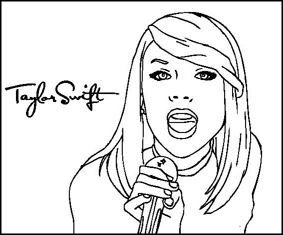 Taylor swift singer coloring celebrity pages