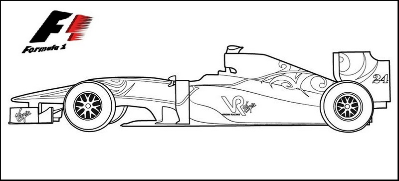 Virgin F1 coloring page