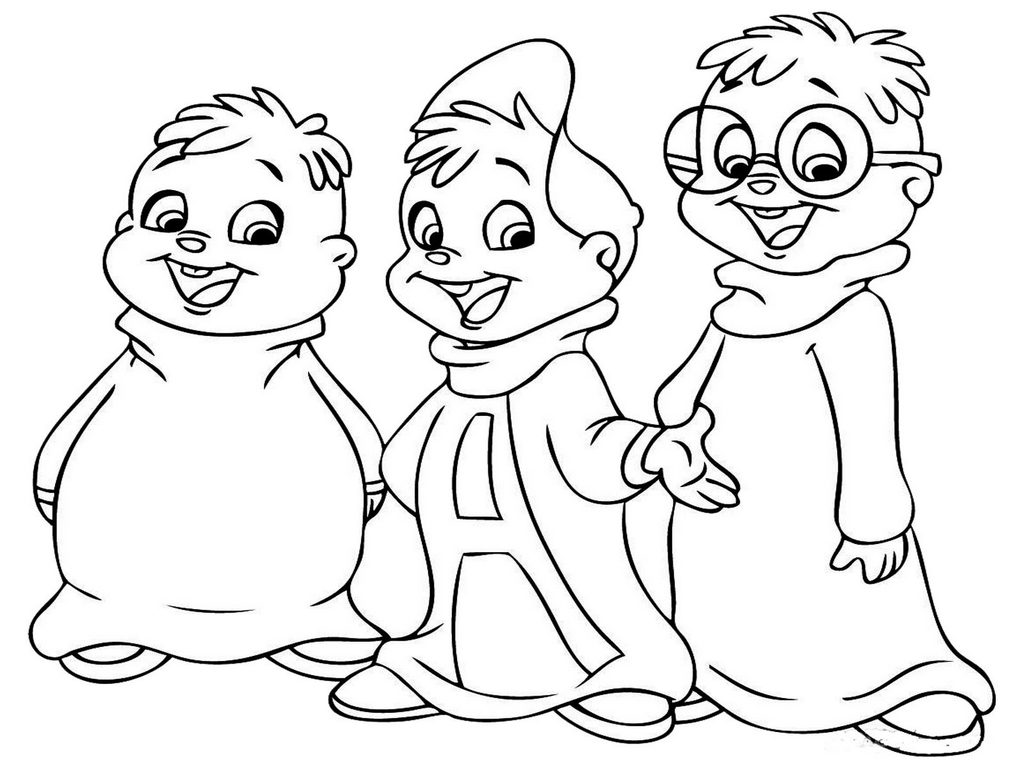 alvin and the chipmunks coloring pictures for kids