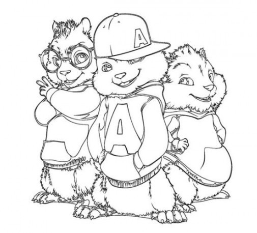 alvin and the chipmunks coloring sheet printable