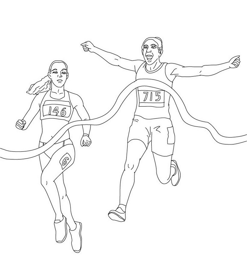 athletics running coloring sheet