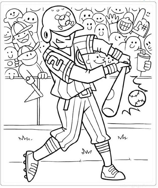baseball cartoon coloring and drawing picture