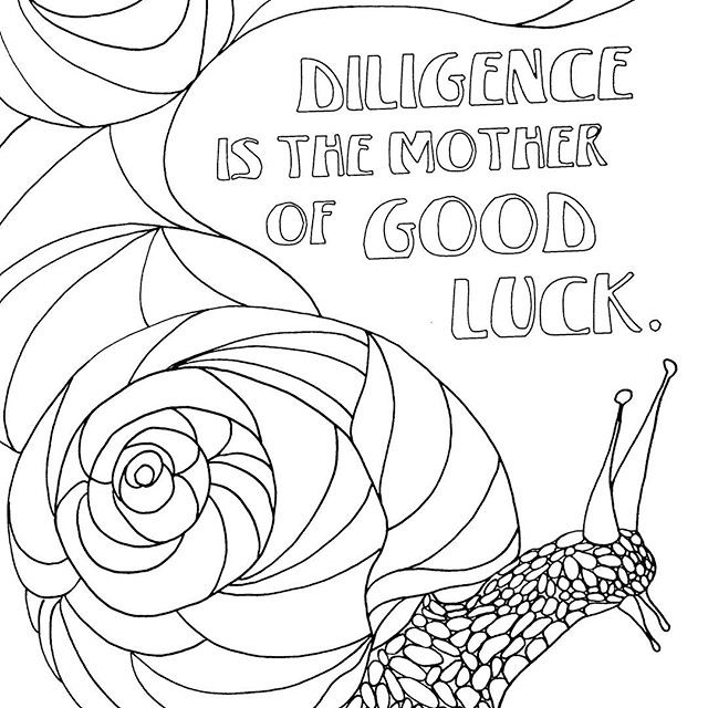 best inspiring quotes with snail scene coloring pages