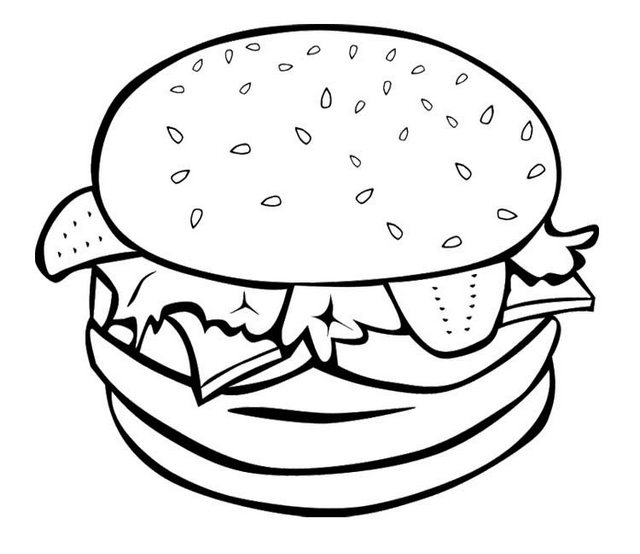 big burger coloring sheet