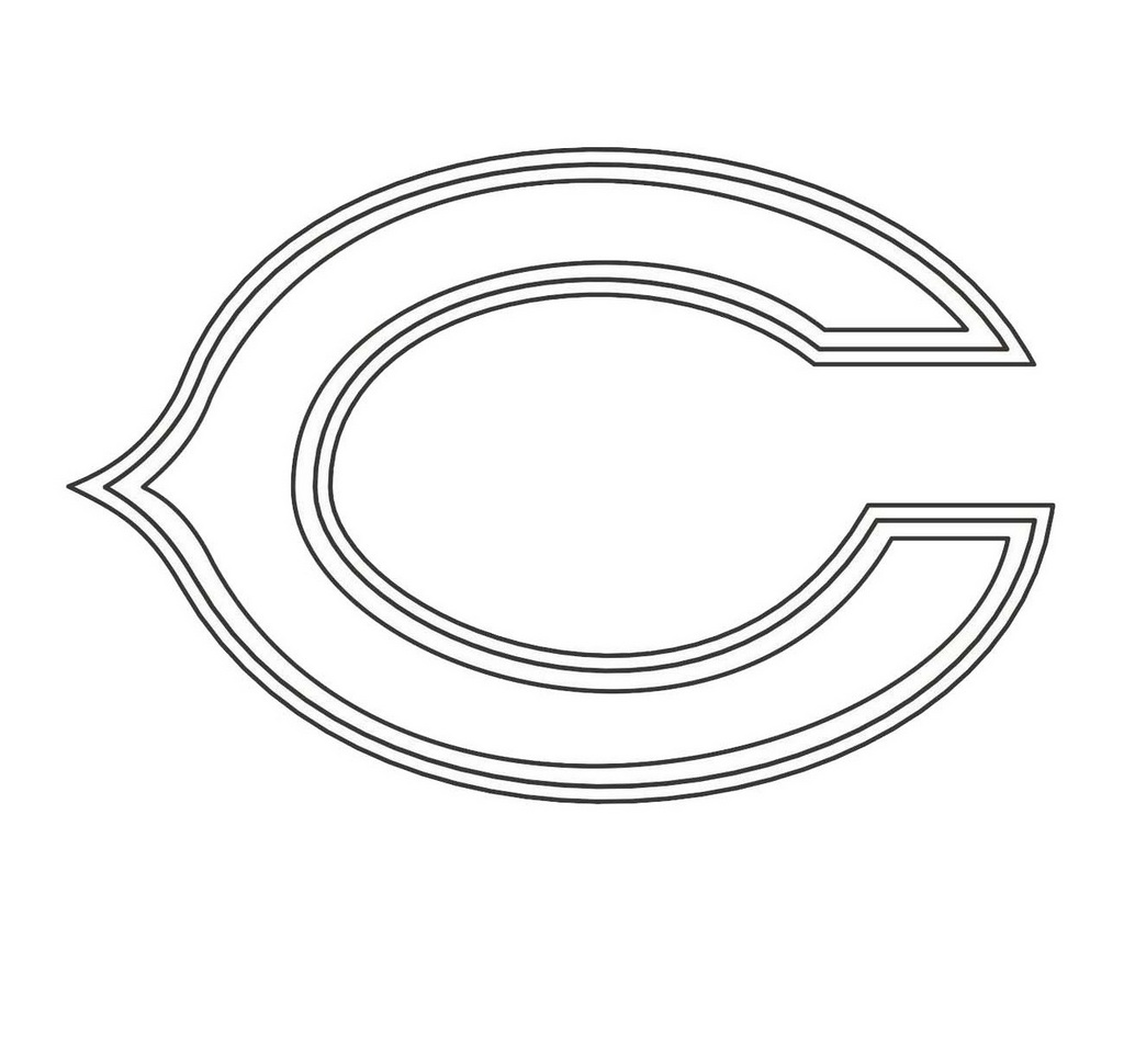 chicago bears nfl american football teams logos coloring pages and coloring pages