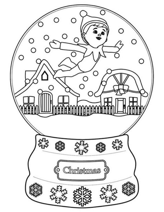 christmas elf coloring picture