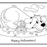 clifford halloween day printable coloring sheet