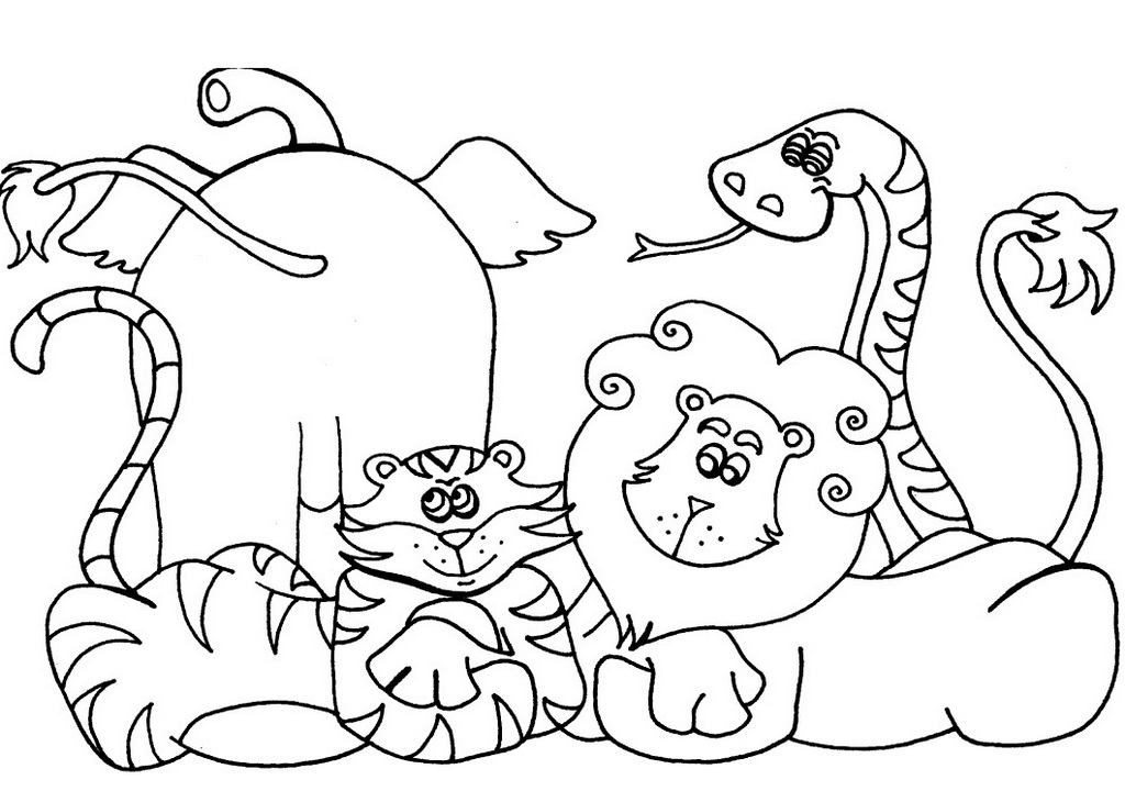 cute african animals coloring sheet
