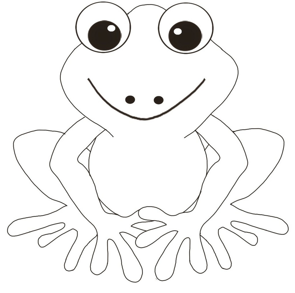 cute frog coloring book for preschools