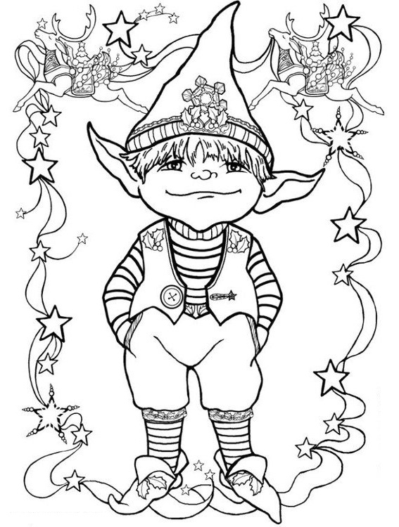 elf on the shelf coloring disney page printable