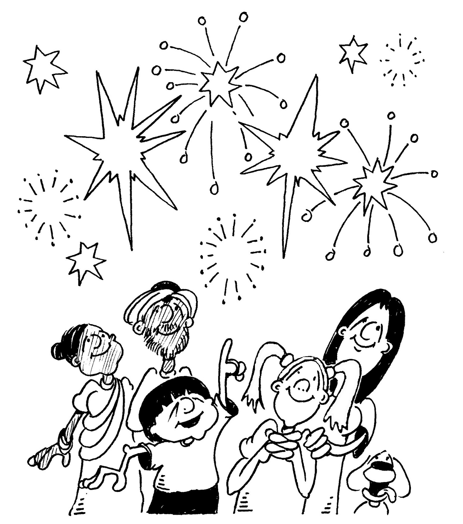 fireworks coloring and activity page