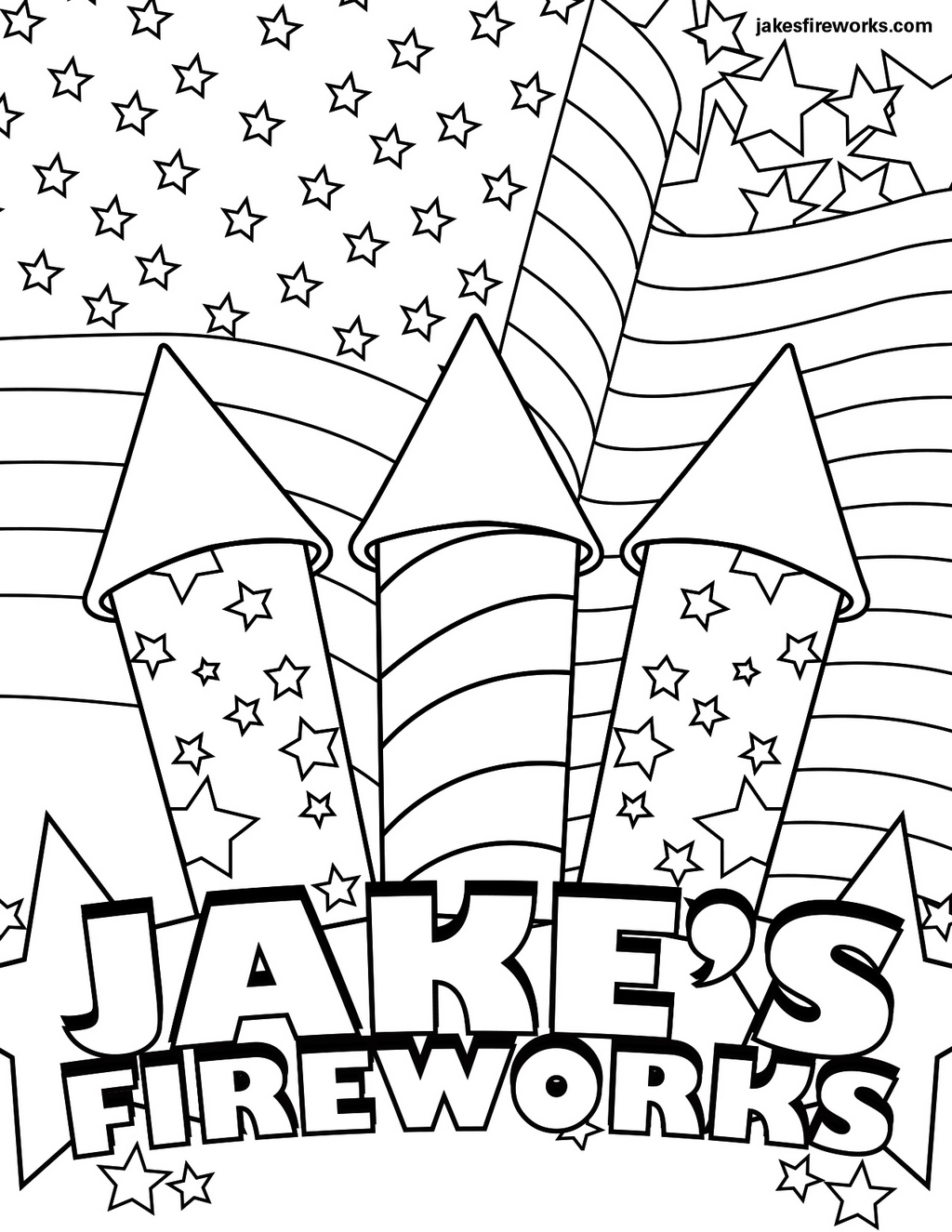 fireworks coloring and drawing page