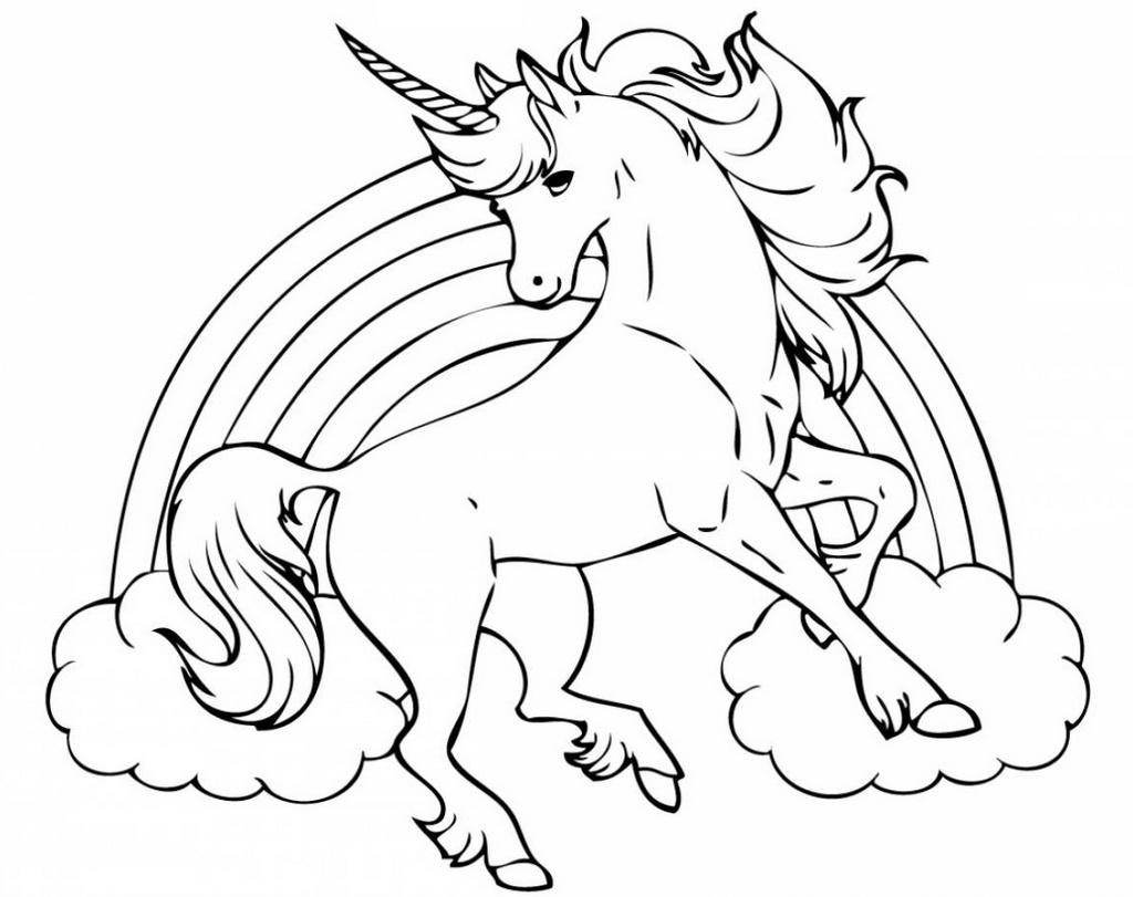 flying unicorn coloring sheet