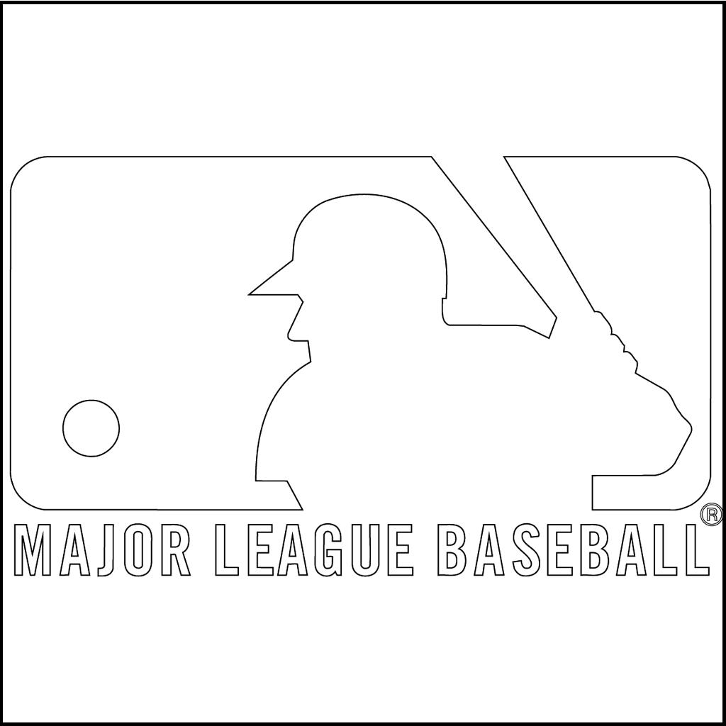 major league baseball mlb logo coloring picture