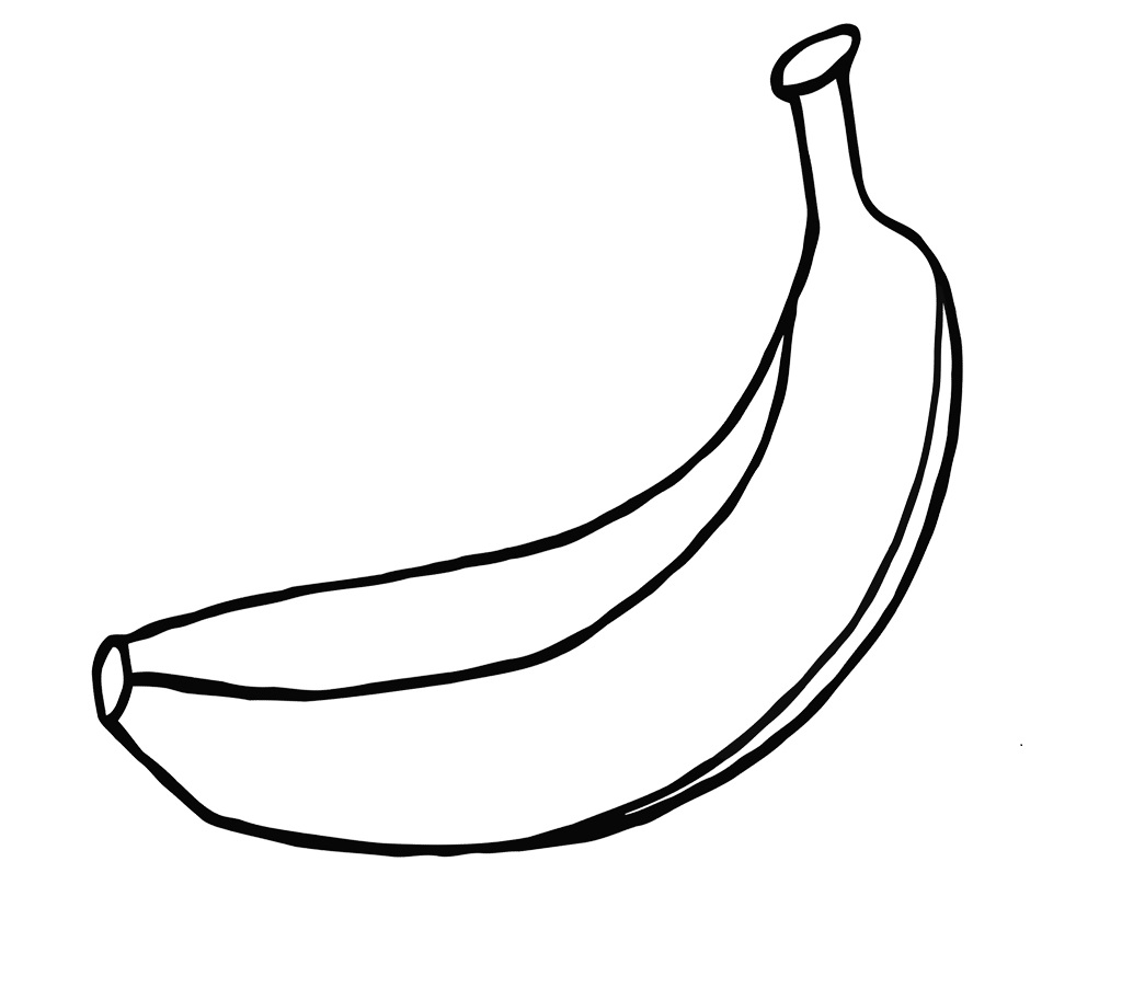 one large banana coloring page