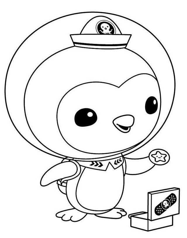 peso penguin from octonauts coloring sheet