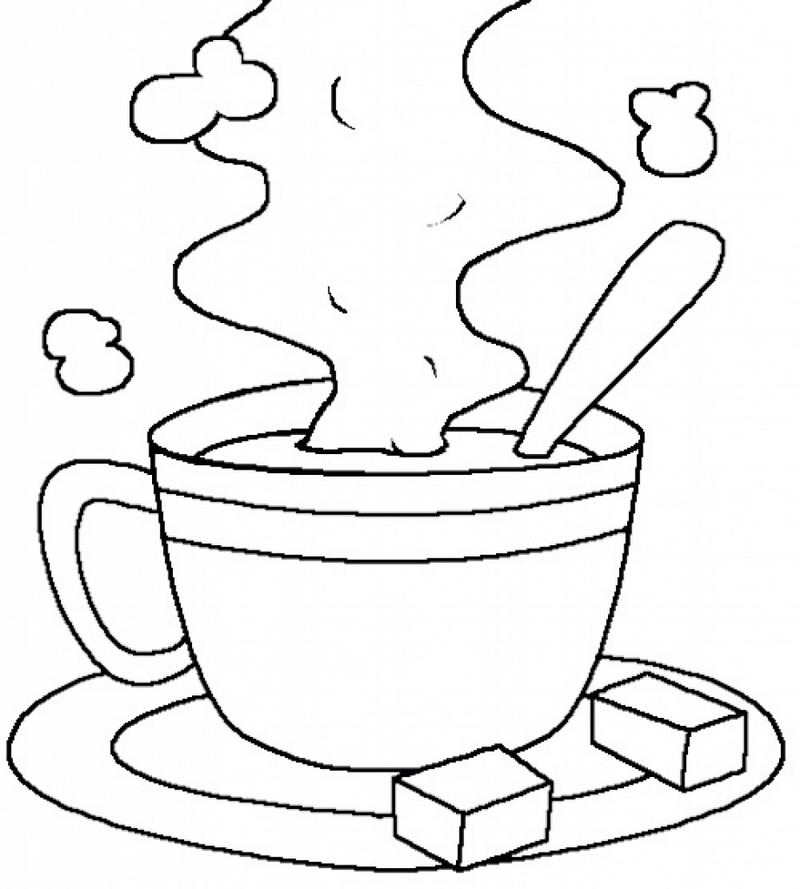 printable coloring pages hot chocolate