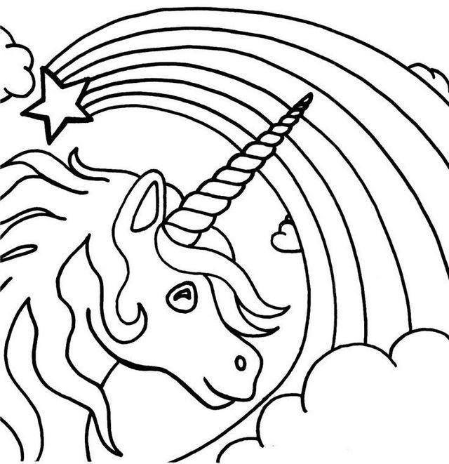 printable coloring pages unicorn pegasus