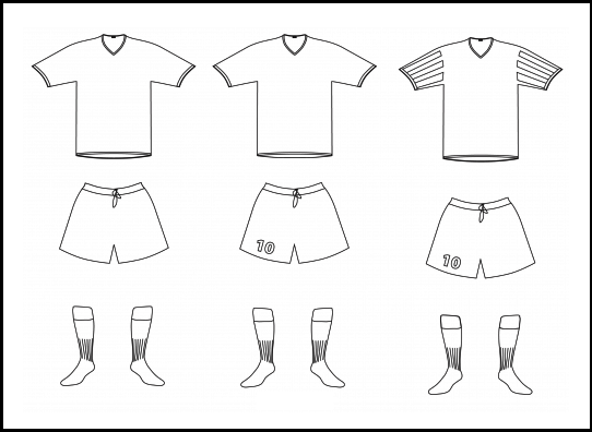 soccer jersey models coloring page
