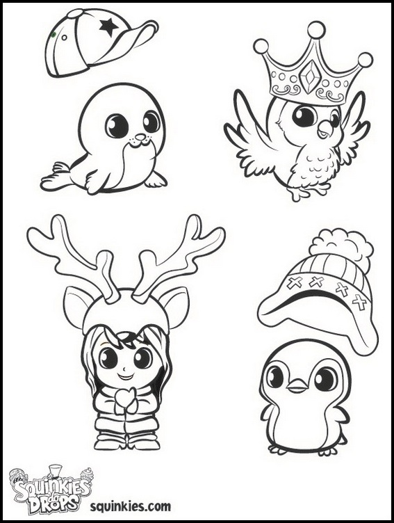 squinkies characters coloring sheet printable