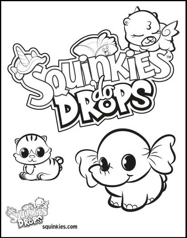 squinkies do drops coloring picture