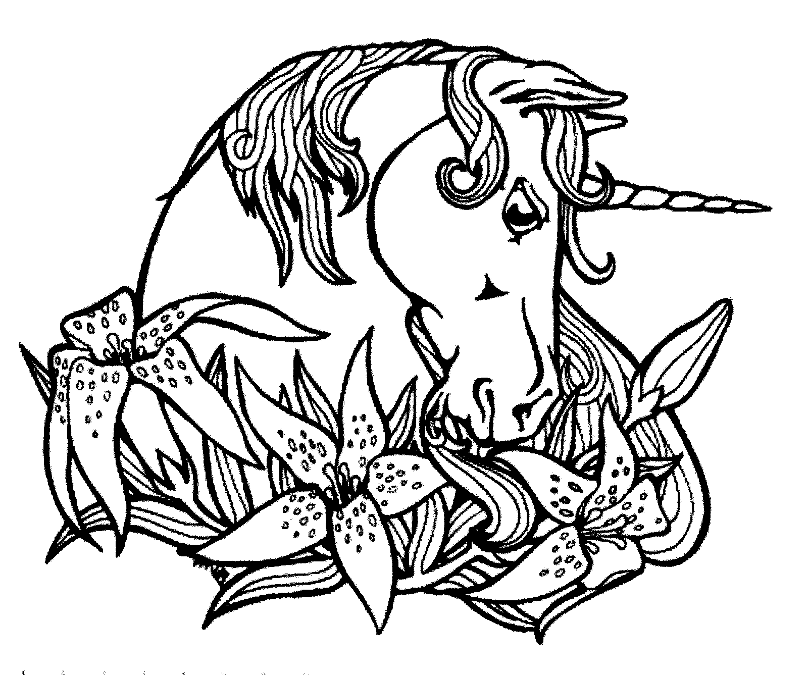 unicorn head coloring pictures printable