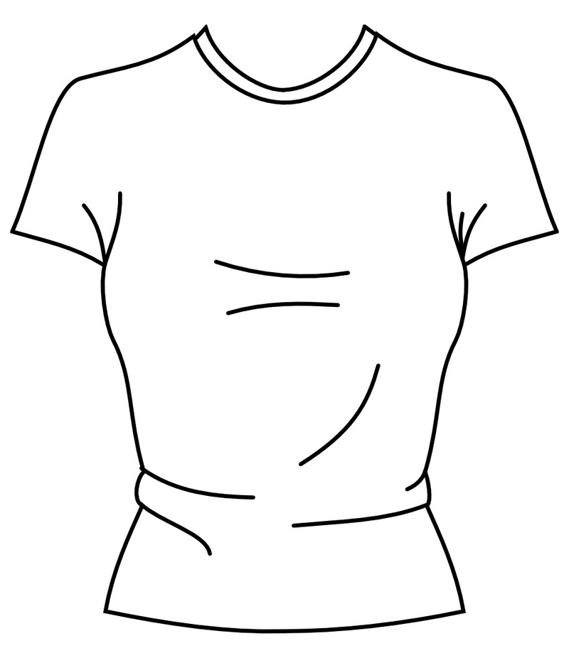 womens tennis t shirt coloring page