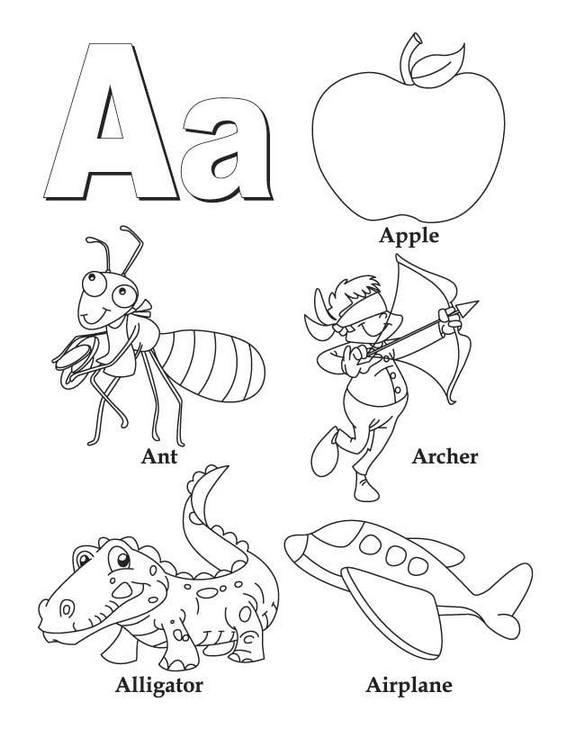A alphabet atoz coloring sheet