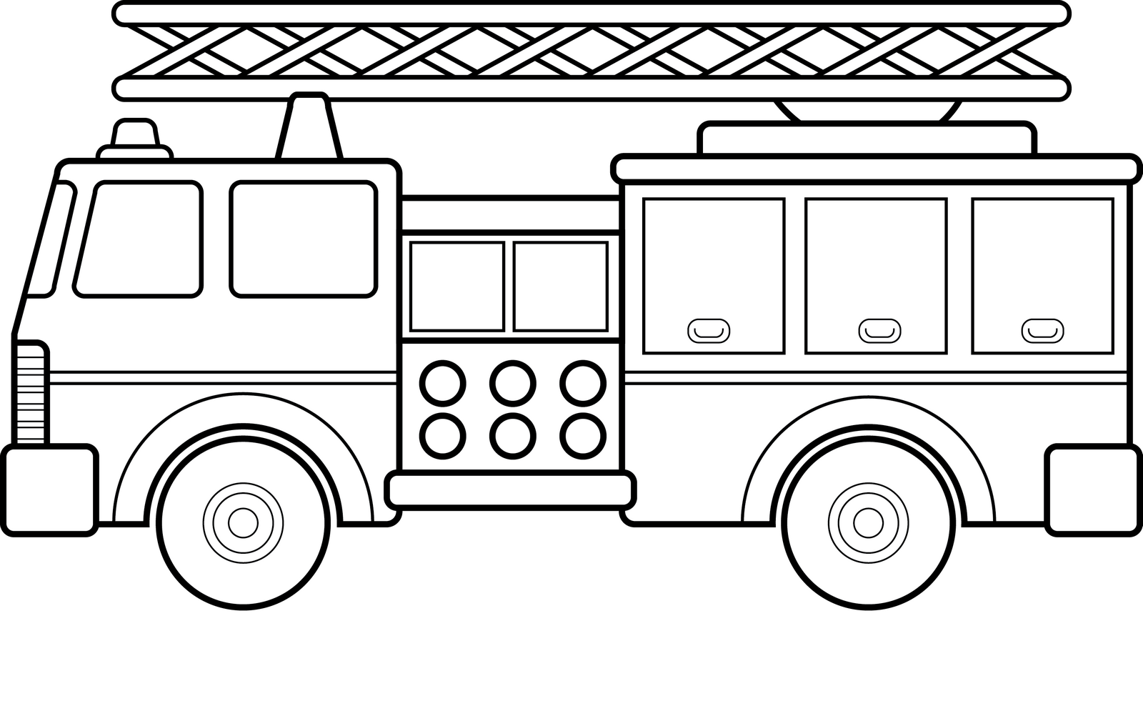 Fire Truck Printable Coloring Picture