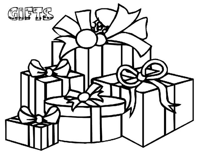 Gift Coloring Present Coloring Sheet Online