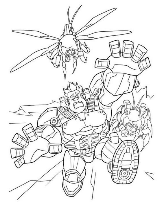 Hero Ralph from wreck it ralph coloring pages for your little one