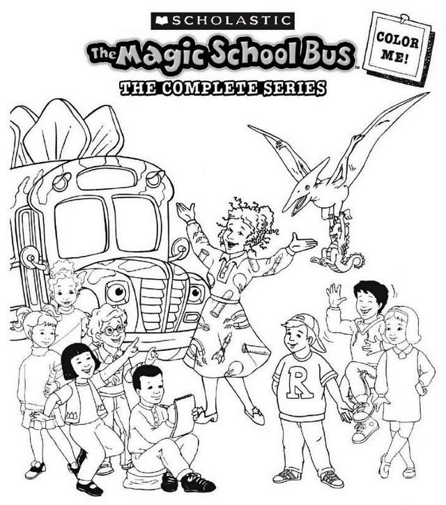 Magic School Bus Series Coloring Sheet Online