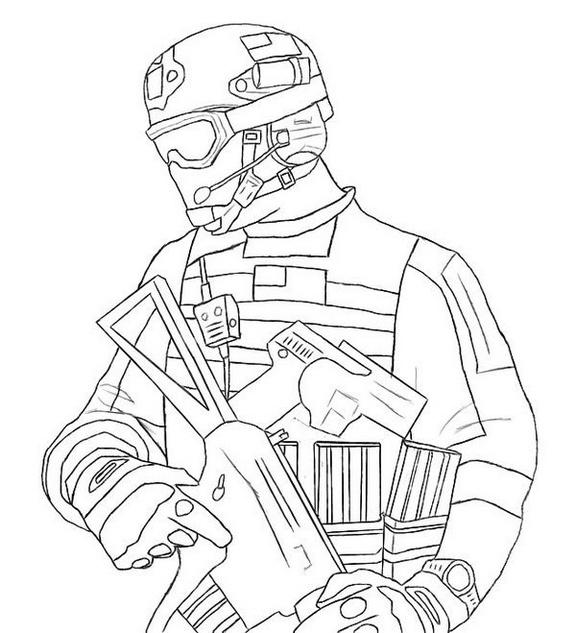 Modern Warfare 3 mw3 Call of Duty Coloring Sheet