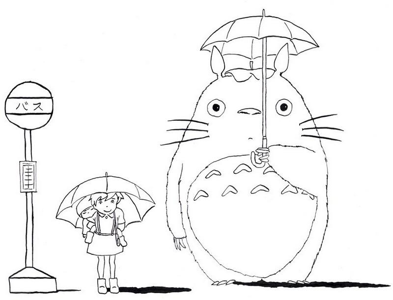 My Neighbor Totoro tonari no totoro coloring picture