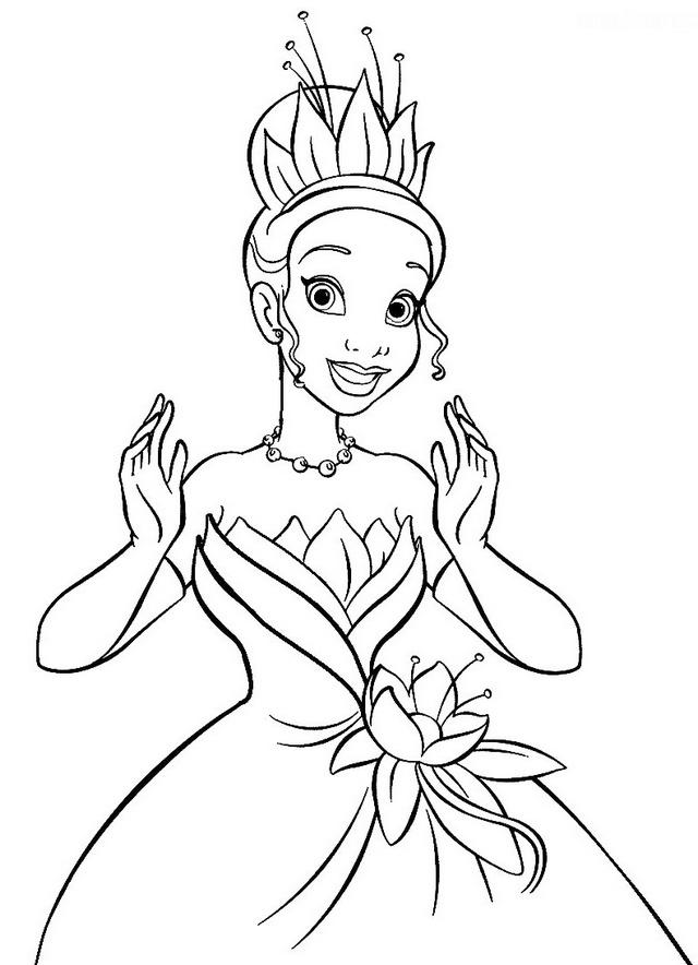Princess Tiana Coloring Disney Pictures