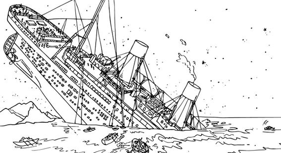 RMS Titanic Coloring Sheet