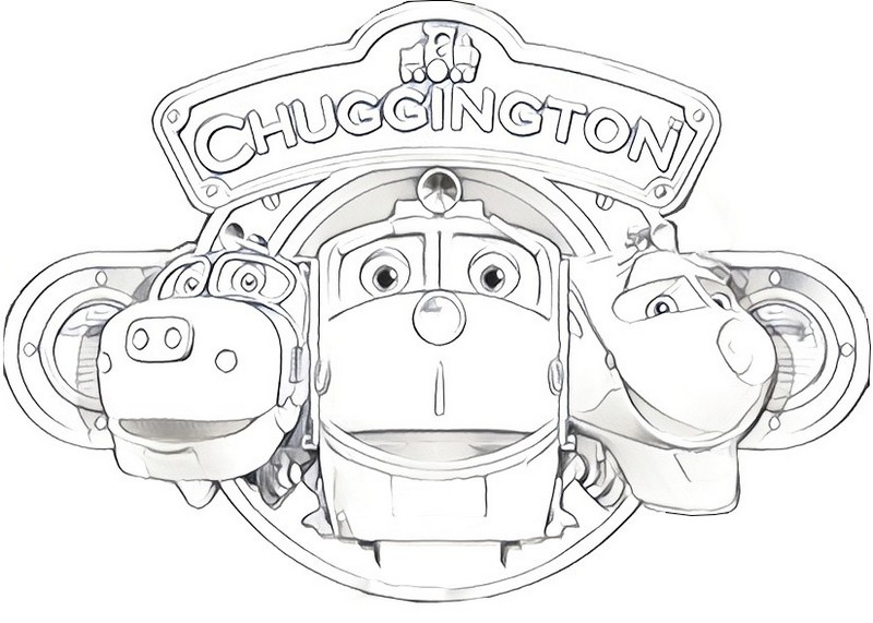 Wilson Koko and Brewster from chuggington coloring page