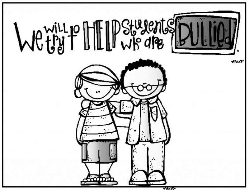 anti bullying coloring sheet with lettering we will try to help students who are bullied
