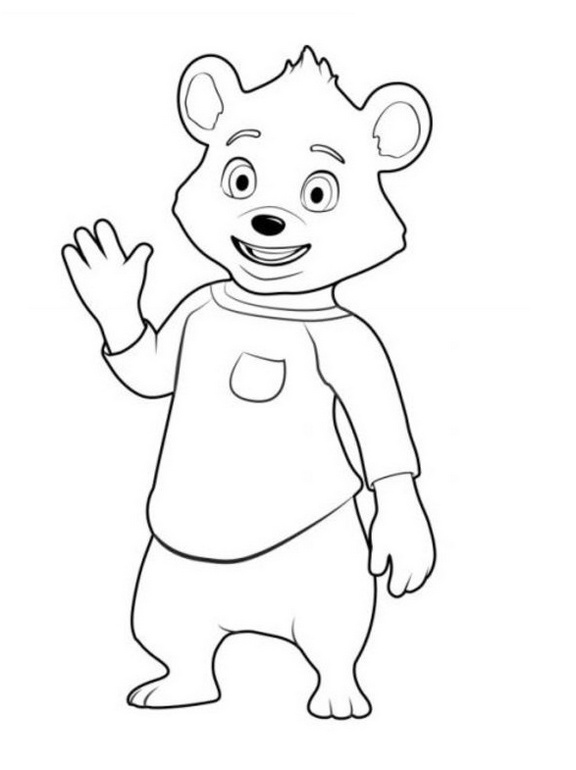 bear from goldie and bear coloring picture