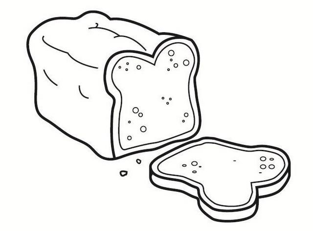 delicious bread coloring sheet