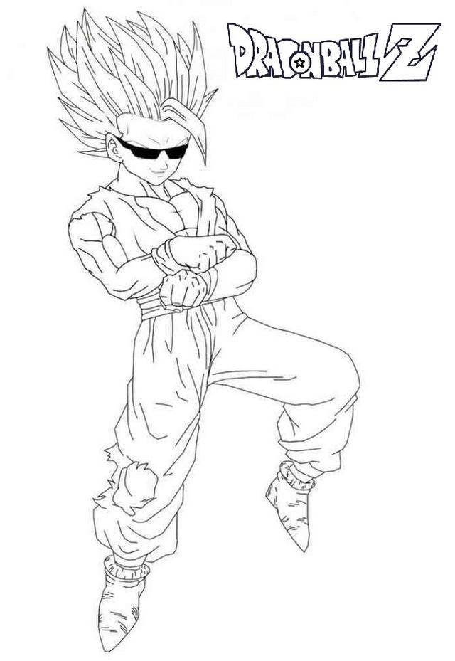 goku super saiyan ready to battle coloring pages